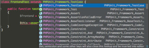 Funktionierender Autocomplete Support für PHPUnit in PHPStorm